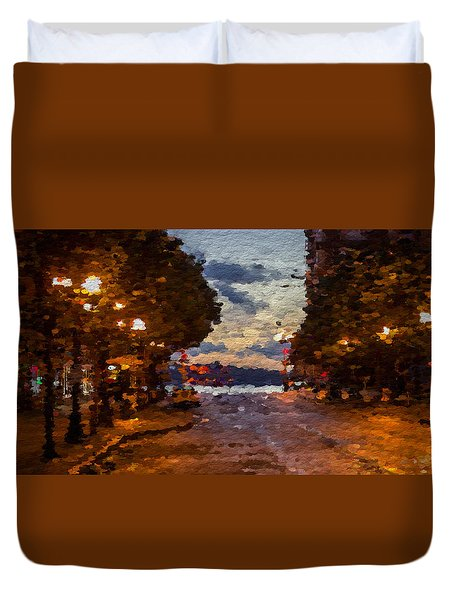 A Night Out On The Town Duvet Cover