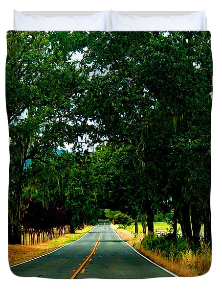A Nor Cal Country Road Duvet Cover