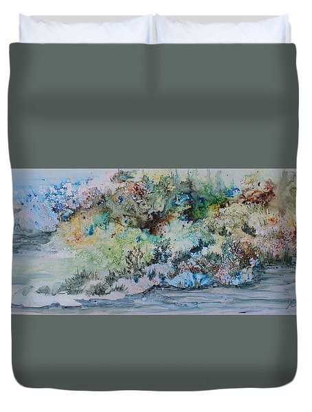A Northern Shoreline Duvet Cover by Joanne Smoley