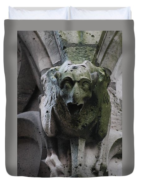 Duvet Cover featuring the photograph A Notre Dame Griffon by Christopher Kirby