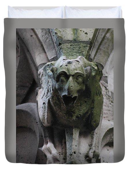 A Notre Dame Griffon Duvet Cover