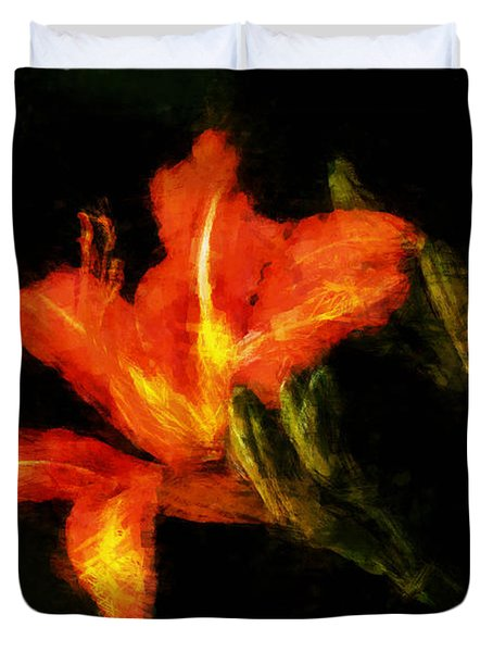 A Painted Lily Duvet Cover