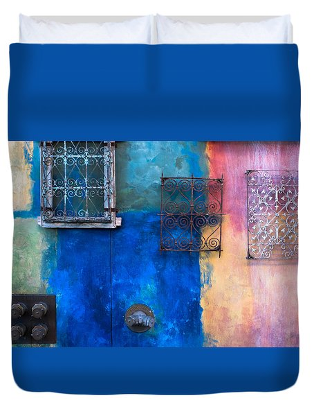 A Painted Wall Duvet Cover