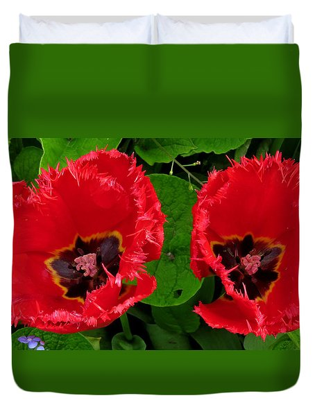 A Pair Of Poppies Duvet Cover