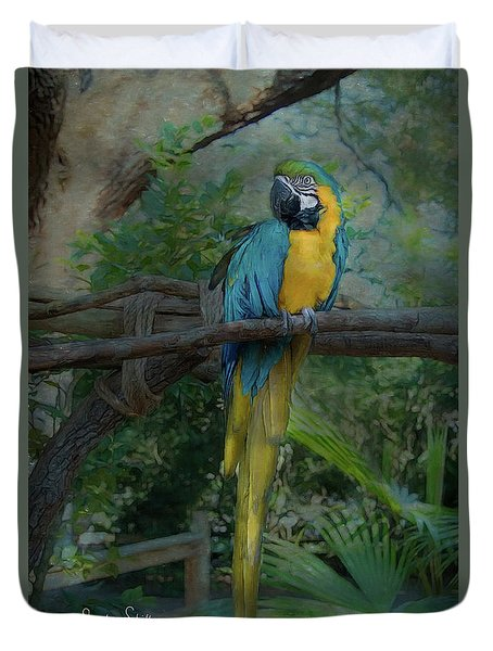 A Parrot's Life Duvet Cover