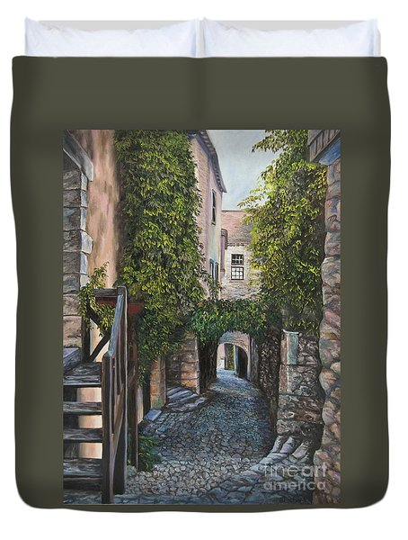 A Passage In Time Duvet Cover by Charlotte Blanchard