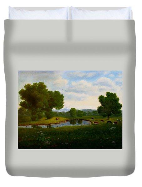 A Pastoral Landscape Duvet Cover