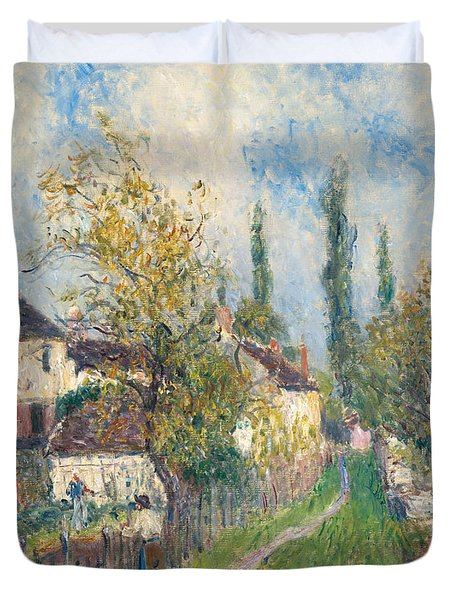A Path At Les Sablons Duvet Cover by Alfred Sisley