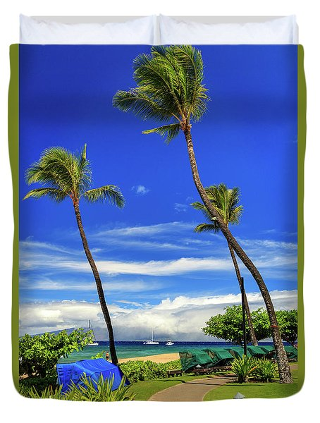 A Path In Kaanapali Duvet Cover by James Eddy