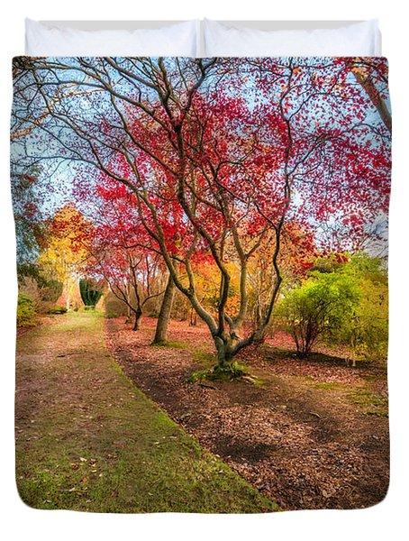 A Path Into Autumn Duvet Cover