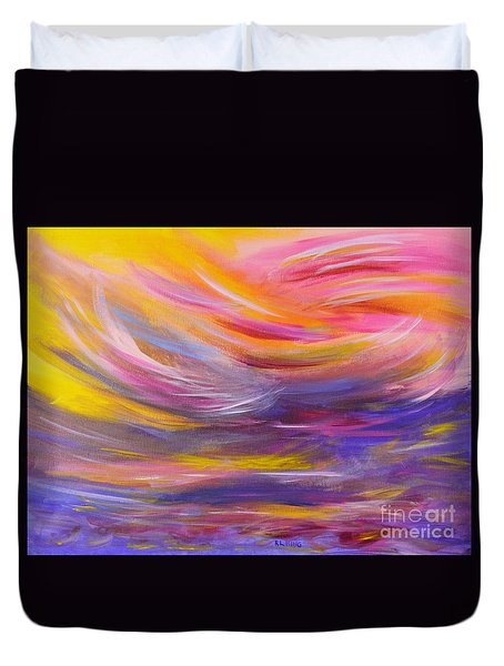 A Peaceful Heart - Abstract Painting Duvet Cover