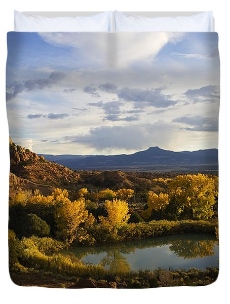 A Peaceful Landscape Stretches Duvet Cover
