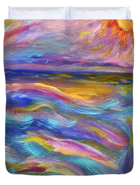 A Peaceful Mind - Abstract Painting Duvet Cover