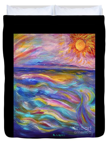 A Peaceful Mind - Abstract Painting Duvet Cover by Robyn King