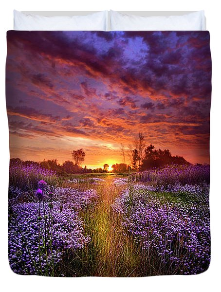A Peaceful Proposition Duvet Cover by Phil Koch