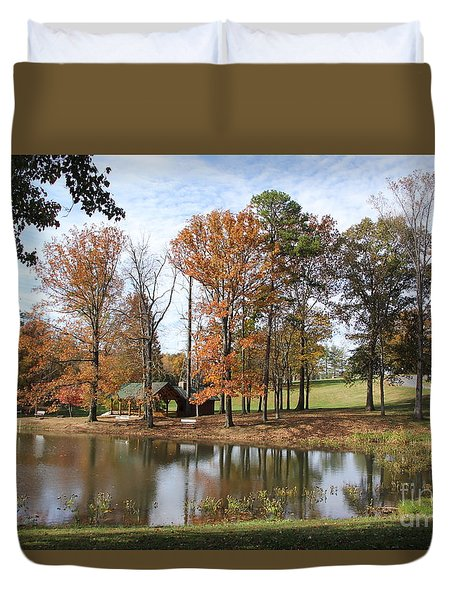 A Peaceful Spot Duvet Cover