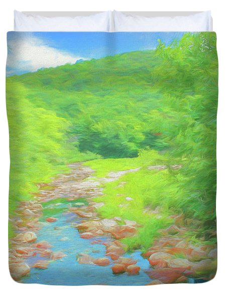 A Peaceful Summer Day In Southern Vermont. Duvet Cover