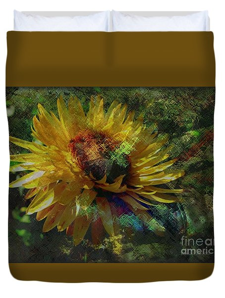 A Peaceful World Duvet Cover by Kathie Chicoine