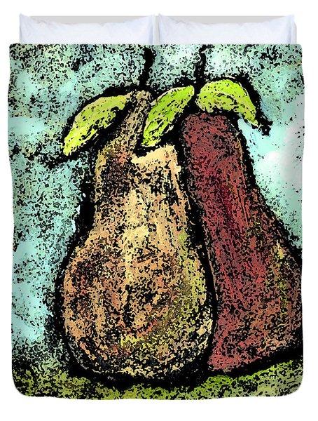 A Pear Pair Duvet Cover by Wayne Potrafka