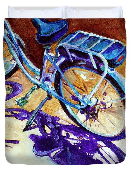 A Pedego Cruiser Bike Duvet Cover