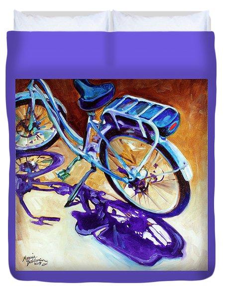 A Pedego Cruiser Bike Duvet Cover by Marcia Baldwin