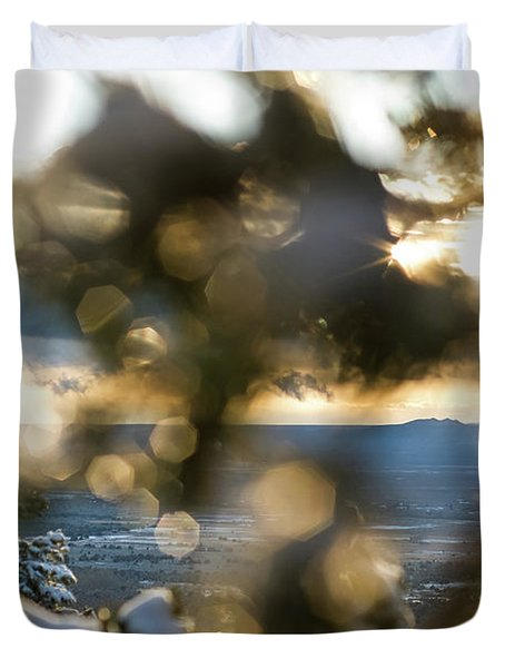 A Peek At Taos Mesa Duvet Cover