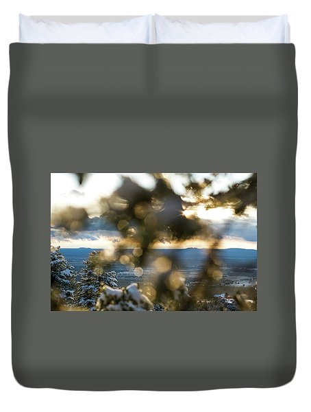 A Peek At Taos Mesa Duvet Cover