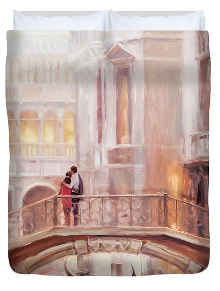 A Perfect Afternoon In Venice Duvet Cover