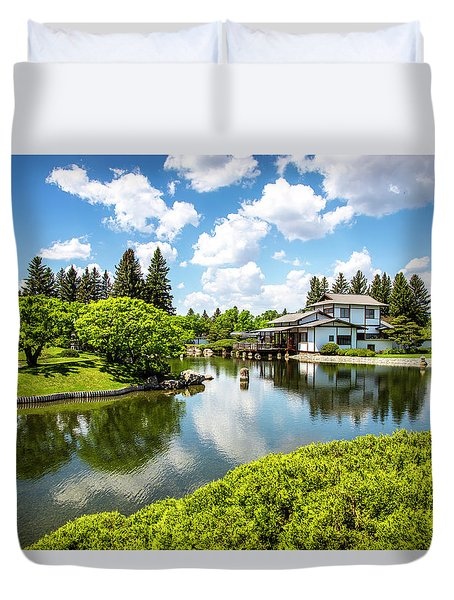 A Perfect Day In The Garden Duvet Cover