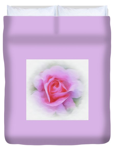 A Perfect Pink Rose Duvet Cover