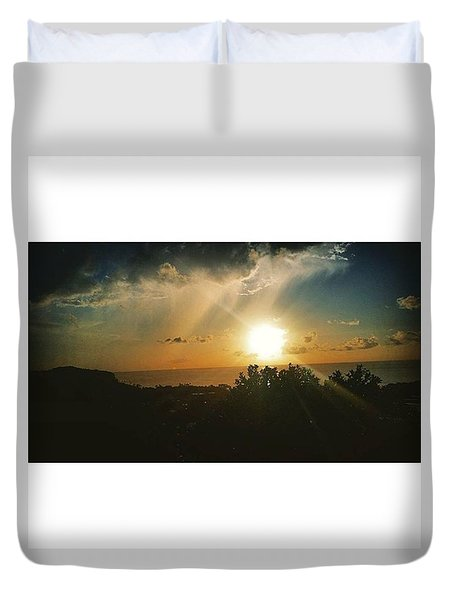 A Perfect Sunset  Duvet Cover