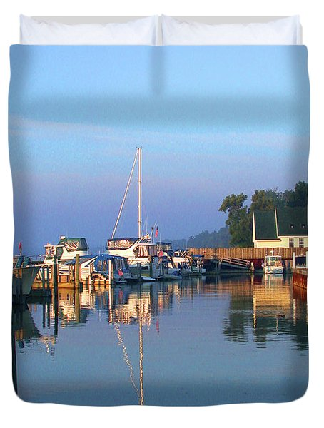 A Perfect Tawas Morning Duvet Cover
