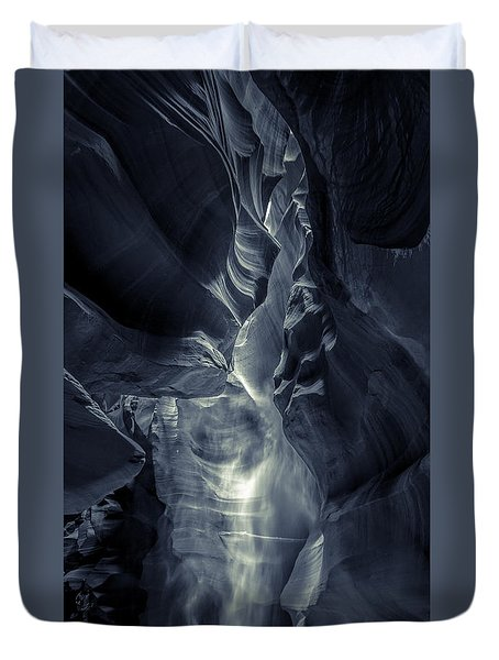 A Phantom Emerges From Antelope Canyon Duvet Cover