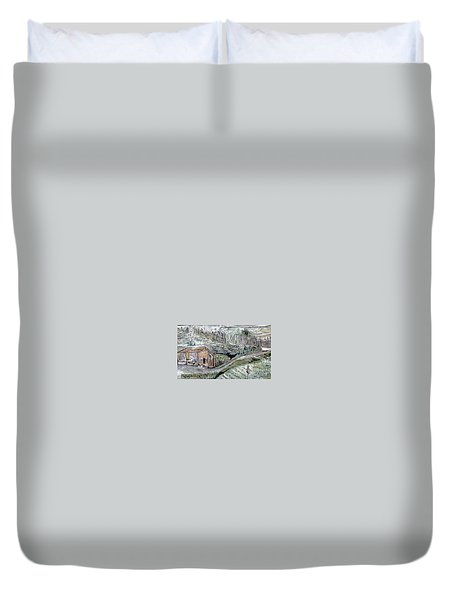A Piece Of Earth From Hills Of Northeast India Duvet Cover