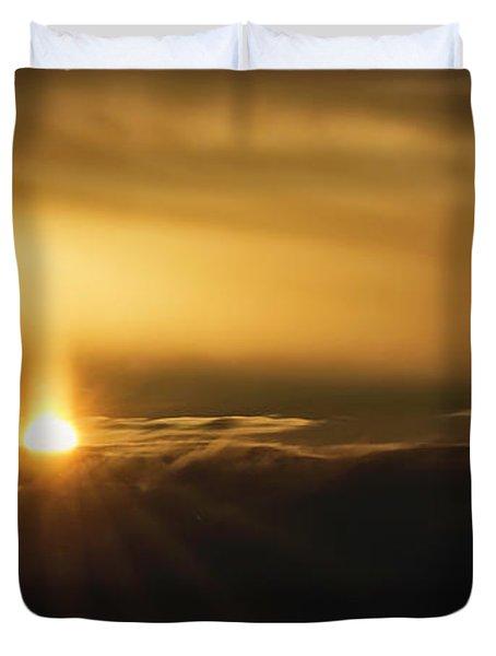 A Pillar Of Golden Light Duvet Cover