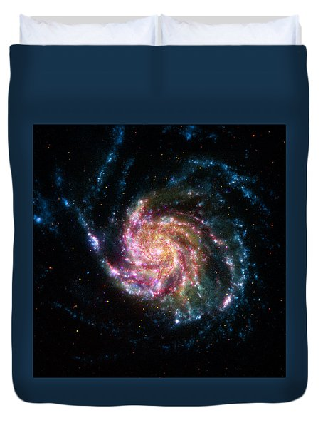 A Pinwheel In Many Colors Duvet Cover
