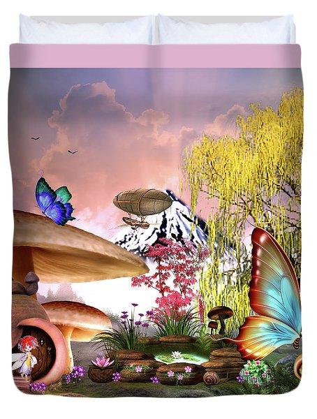 A Pixie Garden Duvet Cover