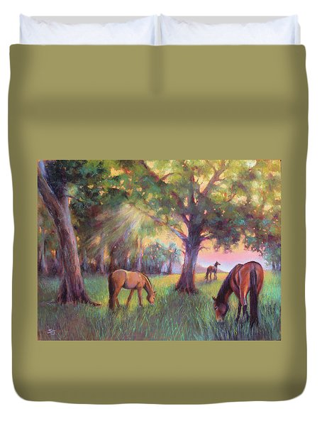 A Place Of Healing Duvet Cover by Susan Jenkins