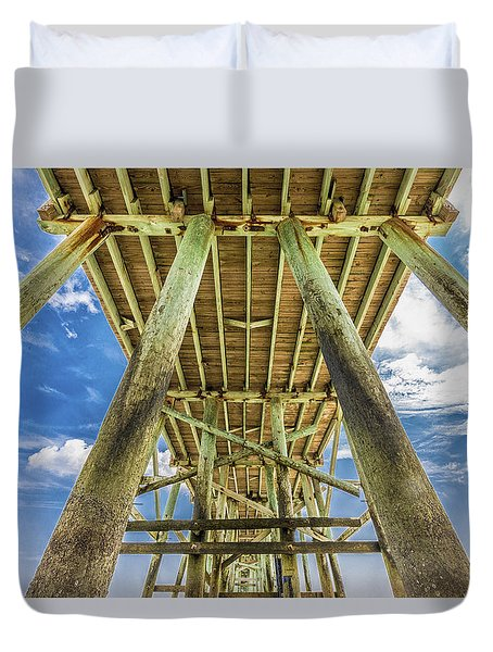 Duvet Cover featuring the photograph A Place To Chill by Paula Porterfield-Izzo