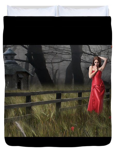 Duvet Cover featuring the mixed media A Place To Remember by Marvin Blaine