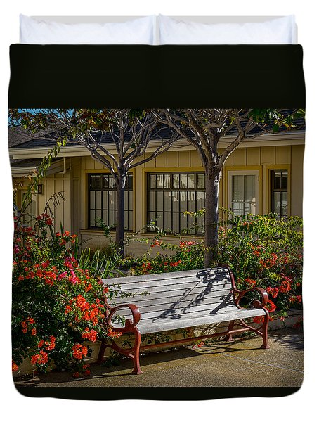 A Place To Sit Duvet Cover by Derek Dean