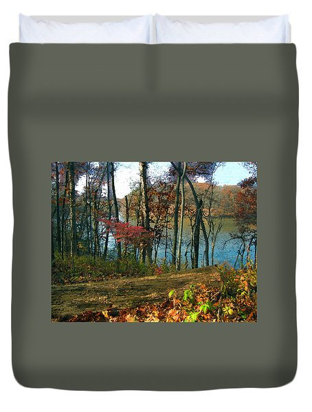 A Place To Think Duvet Cover