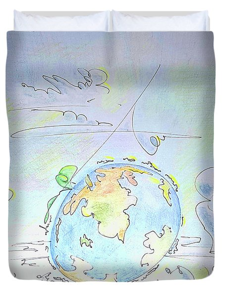A Planet Remembered Duvet Cover