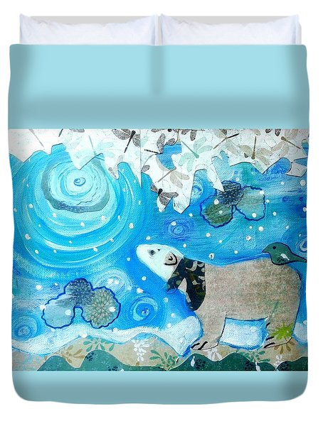 A Polar Moment Duvet Cover
