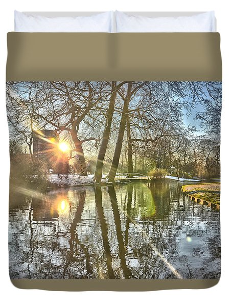 A Pond In Rotterdam Duvet Cover