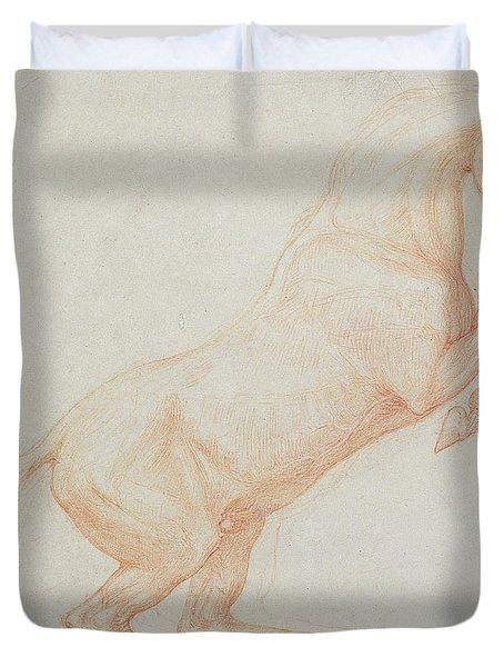 A Prancing Horse Duvet Cover