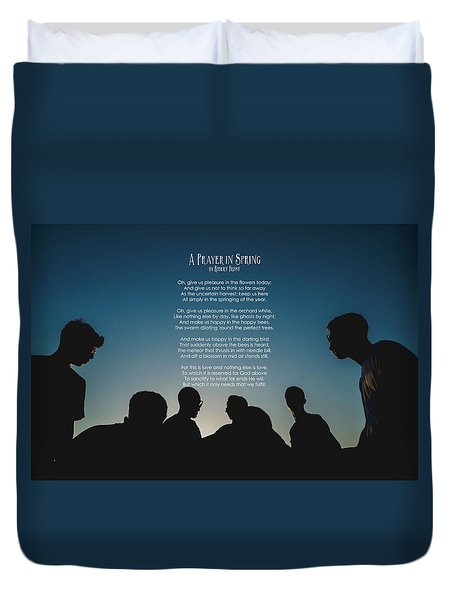 A Prayer In Spring By Robert Frost Duvet Cover