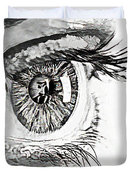 A Prayerful Eye Duvet Cover by Lynda Payton