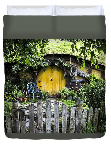 A Pretty Little Hobbit Hole Duvet Cover