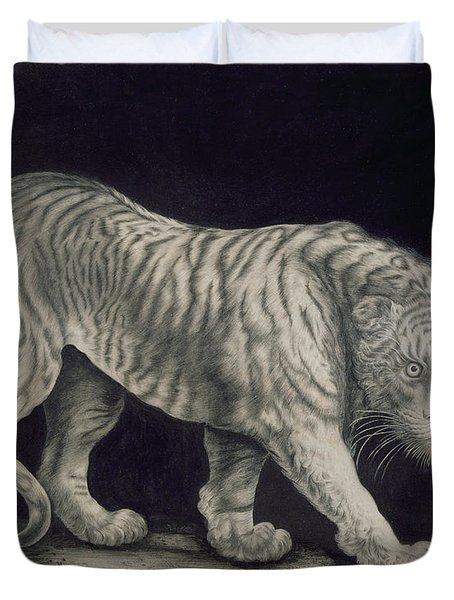 A Prowling Tiger Duvet Cover by Elizabeth Pringle